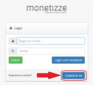 Programa De Afiliados Monetizze - O que é e Como se Cadastrar - Como Vender Sendo Afiliado - como vender na monetizze -painel-de-cadastro-da-plataforma-monetizze-painel-de-cadastro-da-plataforma-sabendo vender - sv - monetizze-login